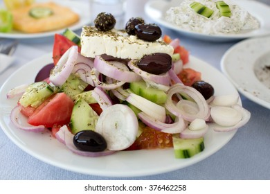 Greek salad in taverna