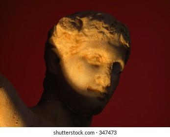 Greek sculpture head