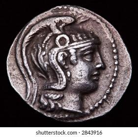 Greek Silver Coin Athens