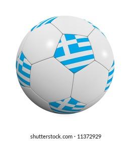 Greek Soccer Ball - very highly detailed Greek soccer ball