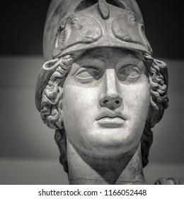 Greek statue of goddess Athena