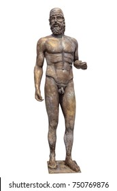 Greek statue isolated on white. Clipping Path included.