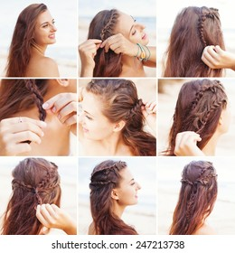 greek style beach hairdo tutorial by beauty blogger