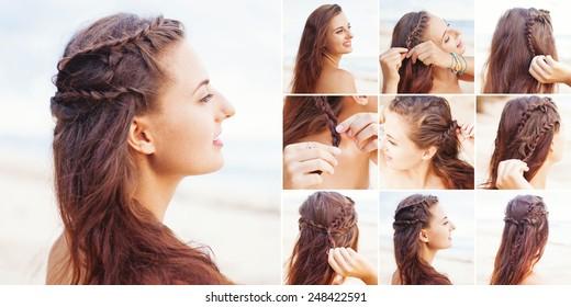 greek style beach hairdo tutorial by beauty blogger