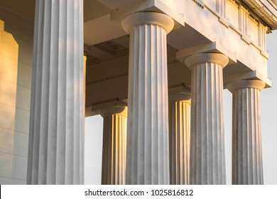 Greek style pillars