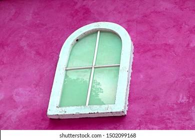 Greek style window on the building