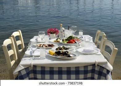 Greek tavern sea food