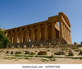 Greek Temple of Concord in ancient Akragas Agrigento Sicily