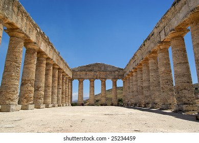 Greek temple in Segesta (Sicily, Italy). UNESCO World heritage site.