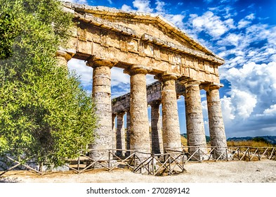 Greek Temple of Segesta, Sicily, Italy summer 2014