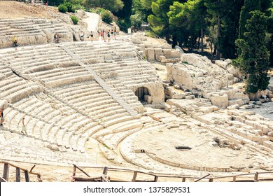 Greek Theatre of Syracuse (Siracusa), ruins of ancient monument, Sicily, Italy
