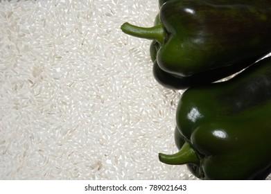 Greek traditional green peper stuffed with  rice