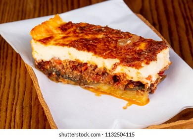 Greek traditional mousaka with meat