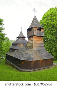 Greek-Catholic wooden Church of St. Kozmu and St. Damian dates back to 1708 and 1709, situated in the village of Lukov - Venecia near Bardejov, Slovakia. Old wooden churches are the pride of Slovakia