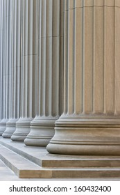 Greek-Style Columns in a row.