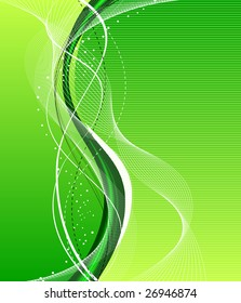 green abstract background composition