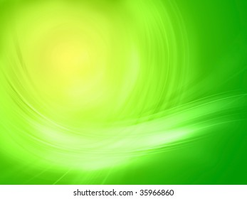 Green abstract background composition. Light