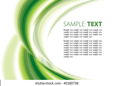 Green abstract background. Rasterized vector