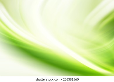Green Abstract Curves Background