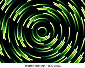 Green Abstract Spiral Background