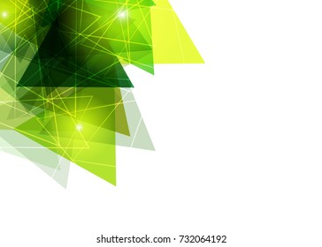 Green abstract template for card or banner. Metal Background with waves and reflections. Business background, silver, illustration. Illustration of abstract background with a metallic element