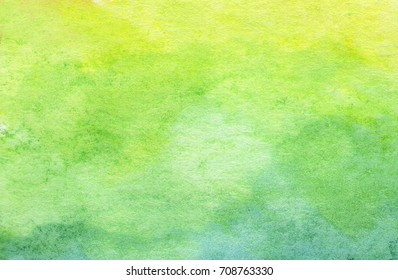 Green abstract watercolor texture background.