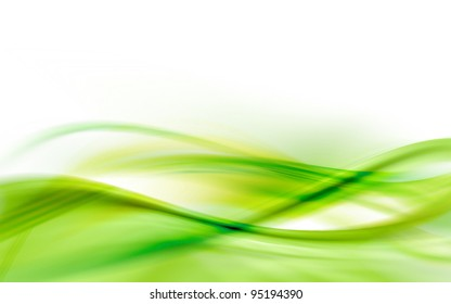 A green abstract wave background