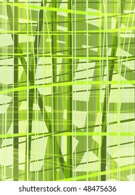 Green abstraction with stripes