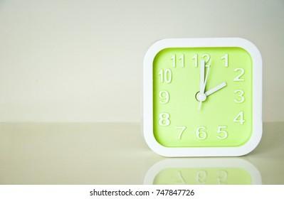 Green Alarm Clock at 2; Daylight Saving Time