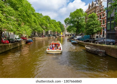 Green Amsterdam with canal