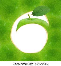 Green apple abstract design