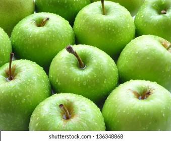 Green apple background