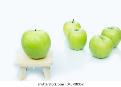 green apple close up isolated