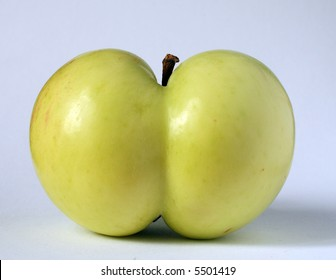green apple of a funny shape