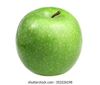 Green apple is isolated on a white background