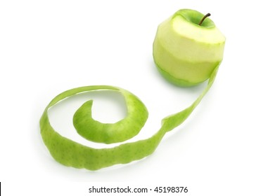 Green Apple with peelings