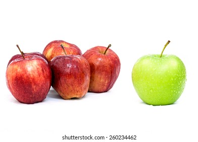 Green Apple show idea different Red Apples