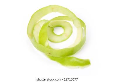 Green Apple Skin close up shot