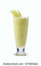 Green Apple smoothie  garnish with Apple wedge