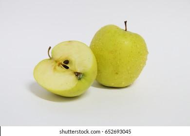 Green Apple, white background