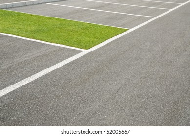 green area, of grass, instead of car park