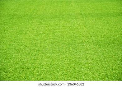 Green artificial lawn