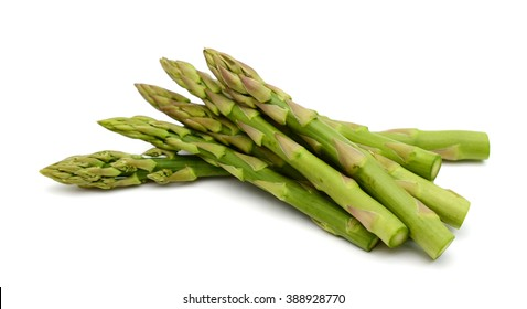 green asparagus isolated on white