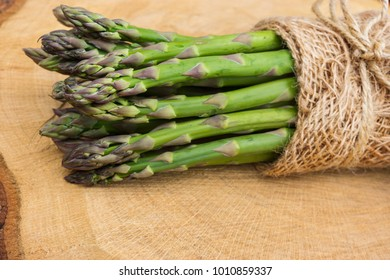 Green asparagus on tree
