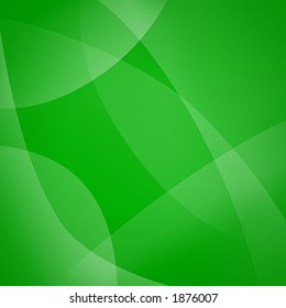 Green background with bezier shapes