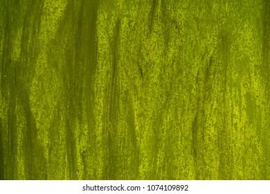Green background greased with brushes, wall texture