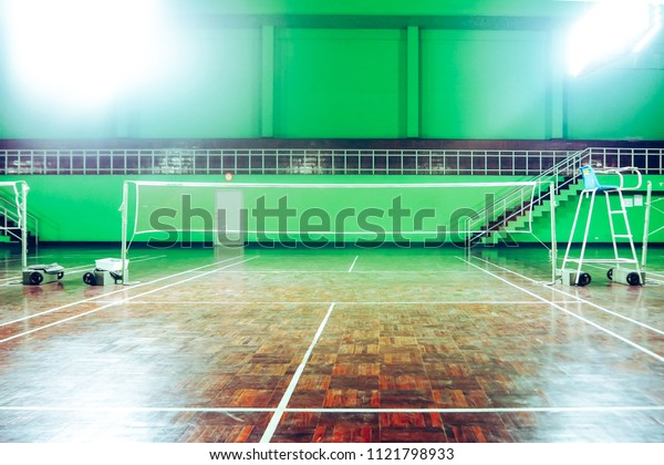 Green Badminton court