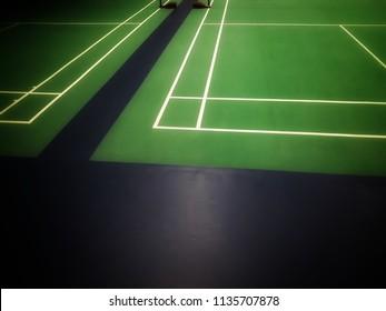 green badminton indoor court