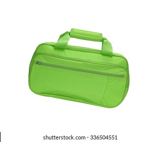 Green bag isolated on white background