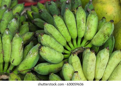 Green banana. Raw banana. Fruits. Wild fruits.Cultivate banana.